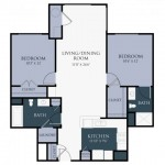 2 Bedroom | 2 Bath 1016 sq ft $ Call For Pricing