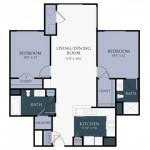 2 Bedroom | 2 Bath 1016 sq ft