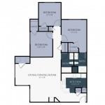 3 Bedroom | 2 Bath 1217 sq ft
